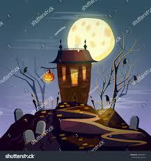 halloween background ghost house cartoon vector stock vector