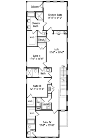 house plans for narrow lots narrow lot mediterranean house plan 42823mj architectural