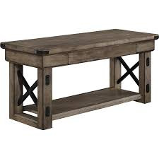 amazon com altra wildwood wood veneer entryway bench rustic gray