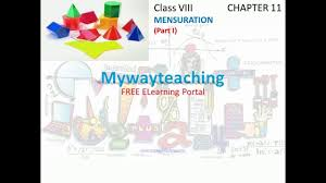 math class 8 chapter 11 part i mensuration mensuration for class
