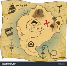Pirates Map Pirate Map Lager Vektor 141290527 Shutterstock