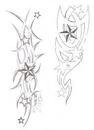 tattooflash tribal stars by 2face tattoo on deviantart