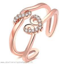 chambre de compensation voyant bijoux anneau en cœur de strass or chambre de