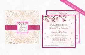 cherry blossom wedding invitations cherry blossoms 02 couture wedding invitation kalidad prints and