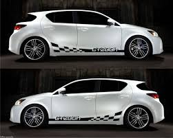 lexus ct200h white lexus ct 200h vvti racing stripe sticker checkered v1 infinity270