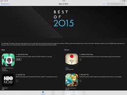 apple publishes best of 2015 app store lists for iphone ipad mac