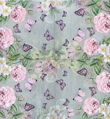 Roses And Butterflies - decoupage paper napkins of pastel roses and butterflies chiarotino