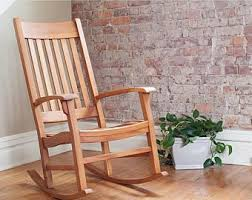 wooden rocking chair etsy