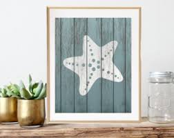 Rustic Nautical Home Decor Starfish Decor Etsy