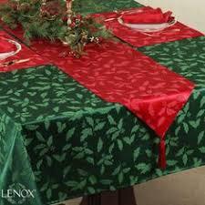 lenox holiday table runner christmas linens table