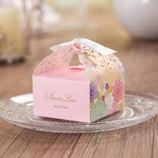 where can i buy boxes for gifts pink flower laser cut candy box decoration gift boxes new wedding