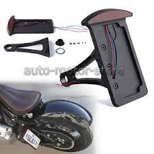 motorcycle license plate frame with led brake light motorcycle vertical license plate bracket side mount holder led