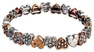 multi bracelet images Multi metal mini heart bracelet wholesale b984m jpg