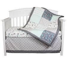 Aqua And Grey Crib Bedding The Peanut Shell Crib Bedding Set Grey And Aqua Uptown Giraffe