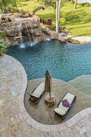 Lounge Chairs In Pool Design Ideas 80 Fabulous Swimming Pools With Waterfalls Pictures