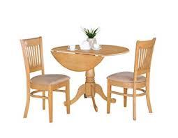 3 Piece Kitchen Table by Amazon Com East West Furniture Dlva3 Oak C 3 Piece Kitchen Nook