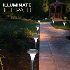 what is the best solar lighting for outside path yard decor waterproof seal 10 brightest light