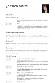 resume masters degree veterinary assistant resume samples visualcv resume samples database
