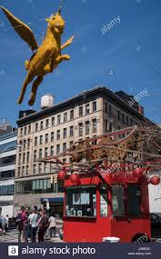 pegasus mythical flying horse decoration and information kiosk