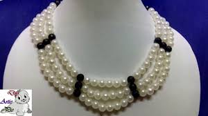 pearl bead necklace diy images 27 how to make pearl beaded necklace diy jewellery making jpg