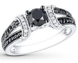 white and black diamond engagement rings black diamond ring ebay