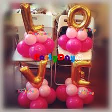 balloon centerpiece alphabet number table balloon centerpiece party day balloon store