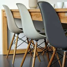 eames inspired dining table winter luxe neutrals pair dining chairs dove grey design