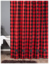 Shower Curtains With Red Park Designs Buffalo Check Bear Shower Curtain Bass Pro Shops