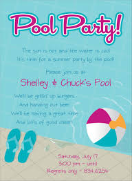 Card Party Invitation Pool Party Invite Kawaiitheo Com