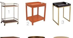 Inexpensive Side Tables Stacy Charlie Bar Carts And Accent Tables On The Cheap