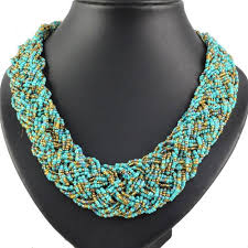 fashion beads necklace images Bohemian style seed beads weaving beaded necklaces for women jpg