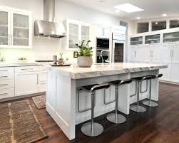 kitchen island seating width with cooktop and dimensions small