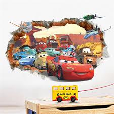 stickers voiture pour chambre garcon voiture de bande dessinée stickers muraux pour enfants chambre