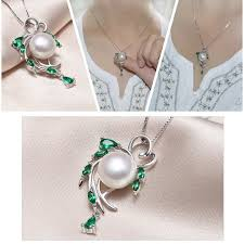 pearl flower necklace images 925 sterling silver natural pearl flower beryl bohemia necklace jpg