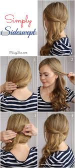 front view of side swept hairstyles easy side swept waves