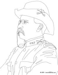 president theodore roosevelt coloring page history coloring
