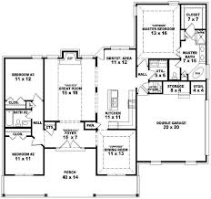 one story country house plans 129 509 00 654172 one and a half story 3 bedroom 2 bath