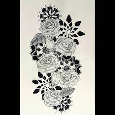 flower sleeve tattoo outline flower full sleeve tattoo design by