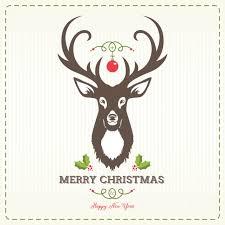 christmas deer deer christmas background vector free