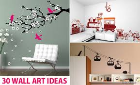 Beautiful Wall Stickers For Room Interior Design 30 Beautiful Wall Art Ideas And Diy Wall Paintings For Your