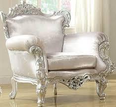 Silver Accent Chair Neo Classic Glitzy Silver Accent Chair 59139 Acme Furniture