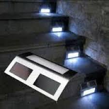 deck steps solar lights deck design and ideas