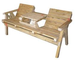 Make Your Own Picnic Table Bench by Garden Seat Table Plans Easy Plans To Build Your Own Garden Seat