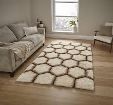 Buy Modern Rugs by Think Rugs Noble House Nh30782 Rugs Cream Brown Buy Online At