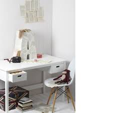 High Desk Chair Design Ideas Furniture White Desk With Two Drawers And White Chair