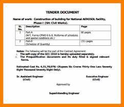 7 tender document template biology resume