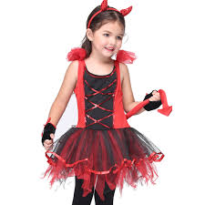 cat halloween costumes for kids aliexpress com buy little wild cat girls red cosplay dresses set
