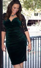 plus size velvet dress hourglass lace dress