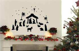 articles with christmas light wall decoration ideas tag christmas christmas light wall decoration ideas christmas murals for walls 36 piece large nativity set vinyl decal