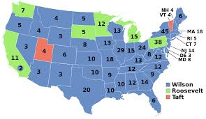 United States Map Test by United States Presidential Election 1912 Wikipedia